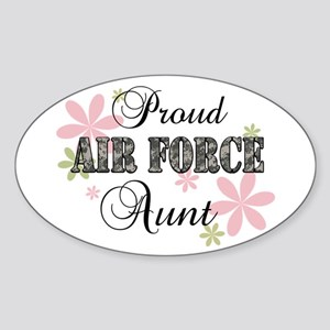 Air Force Aunt [fl camo] Sticker (Oval)